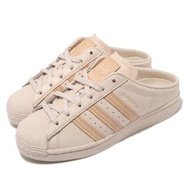 【adidas 愛迪達】休閒鞋 Superstar Mule 女鞋 愛迪達 貝殼頭 半包拖鞋 套腳 穿搭 米白(G58357)