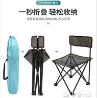 折疊椅南極人戶外折疊釣魚椅便攜可收納美術寫生小馬扎休閒靠背伸縮椅子