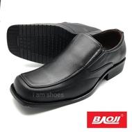BAOJI แท้ 100% คัชชูหนังชาย สีดำ BJ3375 ไซส์ 39-46 รองเท้าทำงาน รองเท้าทางการ