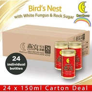 🔥[New Moon][24 individual bottles] NEW MOON Bird's Nest with White Fungus Rock Sugar 24 x 150ML