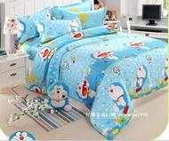 卡通 哆啦a夢 純棉床上用品三四件套(單人/雙人/加大)床單 床罩
