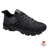 【pierre cardin 皮爾卡登】寬楦立體編織運動鞋-黑