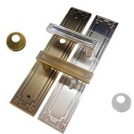 中式古典 亮面銀 連體鎖 面板鎖 水平鎖 水平把手 把手鎖 房門鎖 民族風