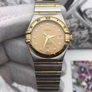 歐米茄Omega 二手正品  星座手錶間金自動機械女士腕表27mm