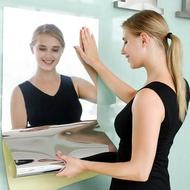 NYTR MALL Mirror Sticker Wall Sticker Glass Soft Mirror Wallpaper Self-adhesive Dormitory Household Whole Body Bathroom Reflective Glass Mirror Sticker