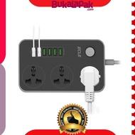 ECLE Power Strip  3 Socket   6 USB
