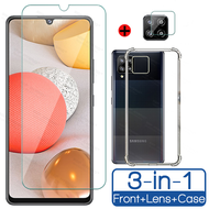 3 in 1 tempered glass for Samsung Galaxy A42 5G screen protector +camera protector+phone case Samsung A42 5g tempered glass