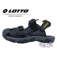 【滿額領券↘折$120】LOTTO樂得-義大利第一品牌 男款兩穿式戶外運動護趾涼鞋 涼拖鞋 [LT9AMS0180] 黑【巷子屋】