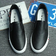 Men Low Top Canvas Shoes Casual Shoes Black And White Large Size Plate Shoes Leather Fashion Man Shoes 46 47 48 Loafers