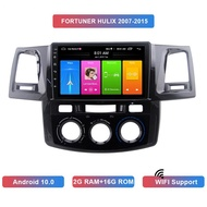 9 Inch 2 Din Android 10.0 Car MP5 Player 2+16GB Bluetooth GPS Navigation for Toyota Fortuner Hulix 2007-2015 Automatic