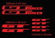 GT Bike Frame Decals