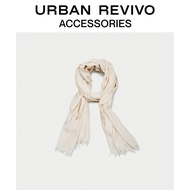 URBAN REVIVO spring and summer youth ladies accessories casual solid color scarf