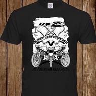 Summer New Yamaha Rxz Racing Motorcycle Motorbike Vintage T-Shirt Men Cotton