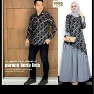 couple batik gamis Katun kombinasi Polos wolfish