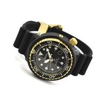 Seiko Prospex Solar Air Diver Black Silicone Strap Watch SNE498P1