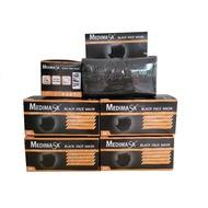 Medimask | หน้ากากอนามัย 3 ชั้น เกรดทางการแพทย์ สีดำ (50 ชิ้น/กล่อง)