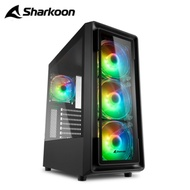 Sharkoon 旋剛 TK4 RGB 閃耀者  玻璃側板 電腦機殼 附4風扇