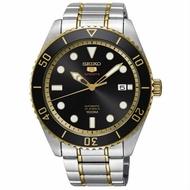 Seiko 精工錶 經典5號 4R35-02D0K(SRPB94J1) 精工五號盾牌水鬼機械腕錶/黑面 44mm