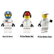 LEGO 75911 McLaren Mercedes Pit Stop 賽車手 維修員 三隻人偶 全新未組裝 合售
