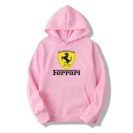 Fashion Like SHOPใหม่! เสื้อแจ็คเก็ต เสื้อคลุม เสื้อกันหนาว เสื้อฮู้ด ผู้หญิง แขนยาว+หมวกน่ารัก ลายFerrariแฟชั่น สำหรับฤดูใบไม้ร่วง - เสื้อผ้าแฟชั่นนานาชาติ Ferrari