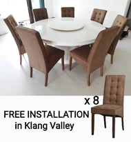 Q 10  1+6 Marble Top Dining Set / 6 Seater Marble Dining Table Set / Marble Top Dining Set for 8 Persons / 8 Seater Marble Dining Set / 6 Seater Round Marble Dining Set / 1+6 Round Marble Dining Set / 1+8 Round Marble Dining Set (TMN)