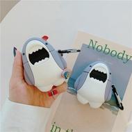 超夯可愛**小鯊魚**airpods1/2代通用  3代pro矽膠保護套 台灣現貨