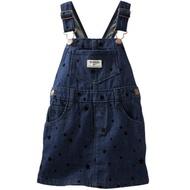 Carter's/OshKosh 美國童裝 背帶裙 吊帶裙 牛仔 黑色星星