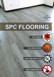 FLOORING SPC 4MM RUBBER OAK - 8809