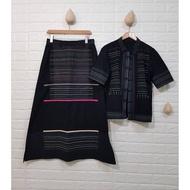三宅一生 Haat 2號電繡民族風棉裙套裝