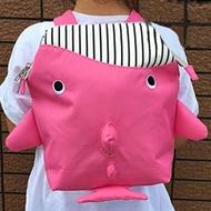 日本 papupi - 嬰幼兒/兒童 鯨魚 鯊魚 鯨鯊 大開口 海洋動物背包-桃色