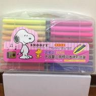 史努比36色大容量三角桿可水洗彩色筆
