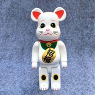 Good Luck Fortune Cat Bearbrick Doll New Arrival 400% Bearbrick Toy Cospaly Eye Fortune Lucky Cat Vinyl Doll Art Figure. Retail Box Bearbrick