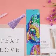 5D Diamond Painting Colorful Dog Bookmark Diamond Embroidery Craft Tassel Book Marks for Books Christmas Gifts