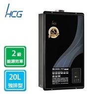 和成HCG 數位 恆溫 強制排氣 熱水器 20L 天然 GH2055N 合格瓦斯承裝業 桃竹苗免費基本安裝