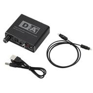 【生活家購物網】數位光纖/同軸轉類比音頻轉換器帶音量調節 SPDIF 解碼器 DVD 藍光機 PS4轉3.5mm孔 送USB供電&光纖音源線