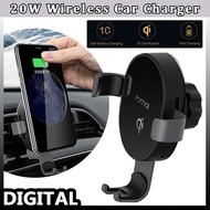 XIAOMI Mijia 70mai QI Certification Car smart Phone Holder 10W Fast Wireless Charger  in stock