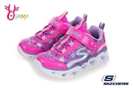 Skechers HEART LIGHTS 小童 寶寶運動鞋 心型LED閃燈 電燈鞋 慢跑鞋 R8276#粉紅◆OSOME奧森鞋業