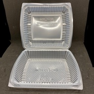 TAPAU - Extra Big Lunch Box [ 50pcs± ] BENXON BX-290 - Disposable PP Plastic Food Box - Chicken Chop Box - BX 290