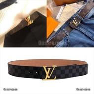 [ Onzone] Mens Leather Belt Pin Belts Waistband Mental LV Buckle Waist Strap