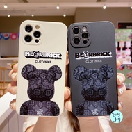 Casing Oppo A3s Phone Case Fashion Bearbrick Side Printing Lens Camera Protection Shockproof Soft Cover For Oppo R9s A5s F9 Pro A9 A5 A31 A53 2020 A92 Reno 5 6 Pro Find X3 Pro