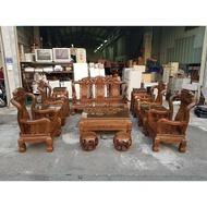 東鼎二手家具 大陸 紅木雞翅木大戰國十二件組*沙發椅組*木製沙發*木椅*客廳桌*沙發桌*二手沙發*客廳沙發*茶几桌
