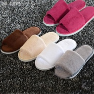♣☂❐Non-disposable Home Guest Slipper Warm Fluffy Shoes Hotel Coral Velvet Slippers
