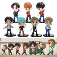 FUNKO POP7Pcs/Set BTS TinyTAN Figure Dynamite Bangton Boys Groups BTS Tiny TAN Mini Figurine Collect