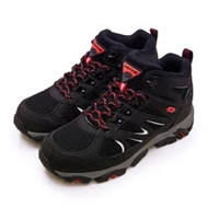 【男】LOTTO 專業多功能防水郊山戶外健行登山鞋 SABRE MID 3系列 黑灰 1250