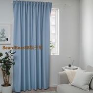 鬍子熊 IKEA代購~ 完全遮光窗簾(藍色,單件裝 210x250公分) 可防止光線進入,提供隱密性,可穿環BENGTA