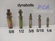"Dyna bolt/Expansion Bolt 3/8"", 5/16"", 1/4"" (Sold Per Piece!)"
