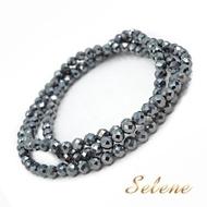 【Selene】鈦赫茲切角三圈能量手鍊(3.5-4mm)