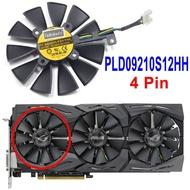 ใหม่87มม.PLD09210S12M PLD09210S12HHพัดลมทำความเย็นเปลี่ยนสำหรับเอซุสสตริกซ์GTX 1060 OC 1070 1080 GTX 1080Ti RX 480การ์ดจอพัดลม