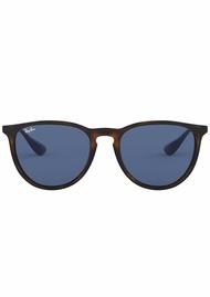 Rayban Round Dark Brown Womens Sunglasses