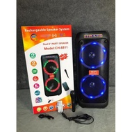 AVCROWNS Dual 8 Inch Speaker With Bluetooth Function